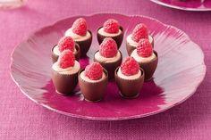 Double chocolate raspberry bites