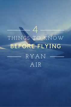 What you should know before booking with Ryan Air.