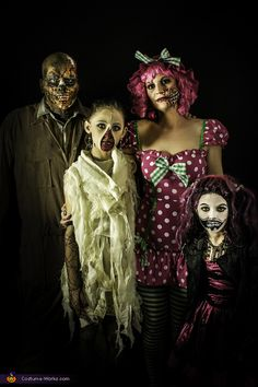 Zombie Family - Halloween Costume Contest via @costumeworks