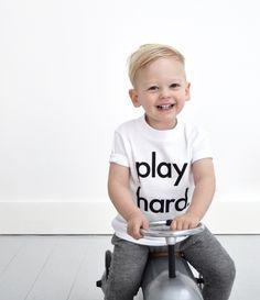 Play Hard kids tee