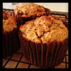 Clean, Lean Mummy Machine: Paleo Banana, Pear & Flax Muffins (almond flour)