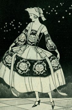 Halloween dress from Dennison Parties 1930 & June Lang #vintage #halloween #1930s | 1930s Glamour | Pinterest ...