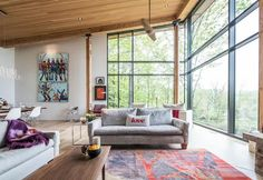 My Houzz : Mad River Chalet - Contemporary - Living Room - Toronto - by Andrew Snow Photography