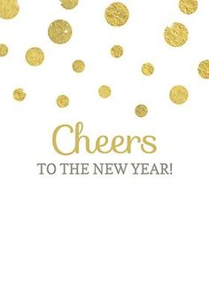 """Cheers to the new year"" printable invitation. Customize, add text and photos. print for free! #New year #Invitation"