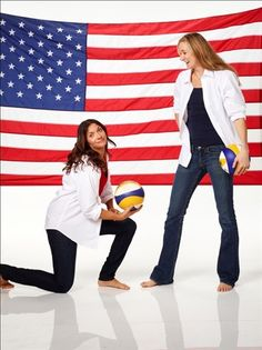Our fave #Olympic beach #volleyball ladies Misty May-Treanor and Kerri Walsh Jennings