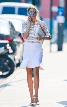 Olivia Palermo in white