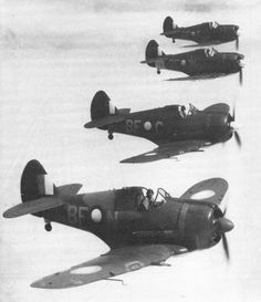 CAA -13 Boomerangs of No 5 Sqdn photographed in 1944 during a training flight in the vicinity of Mareeba, Queensland, Australia