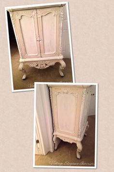 TV armoire with extraordinary carvings and beautiful curved legs. Painted in Annie Sloan Old Ochre and Old White. Annie Sloan Chalk Paint Colors, Annie Sloan Painted Furniture, Annie Sloan Paints, Armoire Makeover, Tv Armoire, Painted Coffee Tables, White Trim, Fabric Painting, Diy Furniture