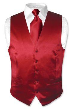 Red dress vest under tuxedo Vest And Bow Tie, Red Bow Tie, Red Vest, Blue Vests, Bow Ties, Mens Suit Vest, Mens Suits, Chambelanes, Royal Blue Color