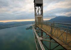 The Hammetschwand elevator at the summit of Bürgenstock, overlooking Lucerne, Switzerland.