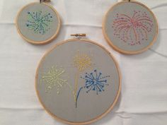 Fireworks embroidery