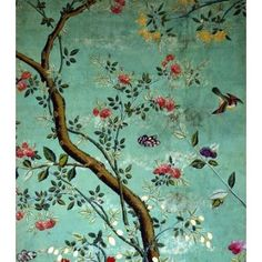 Chinese Wallpaper (Print On Demand) Code VA78627 Chinese Wallpaper with Flowering Shrubs and Fruit Bees. China, 18th century. Availability: Standard Prints usually despatched within 2 to 4 days.  Framed Prints, Large Format Prints (A1, A0), Art Prints, and  Canvas Prints despatched within 1 - 3 weeks. $20 8x10