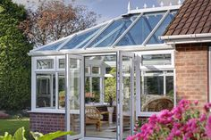 Enjoy the outdoors and indoors all year long Victorian Conservatory, Conservatory Design, Aluminium Windows And Doors, Tree Surgeons, Roof Cleaning, Glass Roof, Home Trends, Exterior Design, Perfect Place