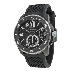 Shop for Cartier Men's 'Calibre de Diver' Automatic Black Rubber Watch. Get free delivery On EVERYTHING* Overstock - Your Online Watches Store! Cartier Calibre, Cartier Men, Cartier Watches, Gents Watches, Watches For Men, Unique Watches, Vintage Cartier Watch, Mens Rose Gold Watch, Rubber Watches