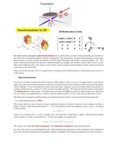 Transformations in 3 D by Tarun Gehlot via slideshare