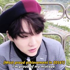 Yoongi, you should be proud! It was amazing!