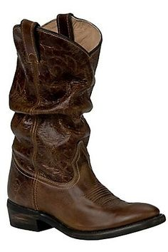5f2280d527d Double H Sonora Ladies Vintage Tan Brown Calvary Slouch Western Boots I  really want a pair of cowboy boots!