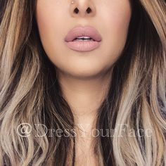 Anastasia Beverly Hills Liquid Lips in 'Pure Hollywood' lined with MAC 'Morning Coffee'