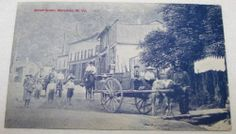 1908 WEST VIRGINIA POSTCARD Street Scene, Matewan