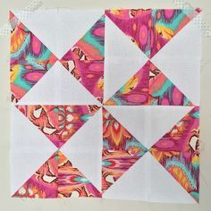 Hourglass Half Square Triangle Quilt Block