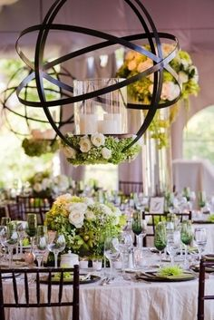 Wedding Reception Tent | Tented Wedding | Iron-Candles and Flowers used for decor
