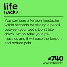 How To Cure A Tension Headache 1000 Life Hacks is part of Useful life hacks - Improve your life one hack at a time 1000 Life Hacks, DIYs, tips, tricks and More Start living life to the fullest! Hack My Life, Simple Life Hacks, Useful Life Hacks, Headache Cure, Migraine Relief, Tension Headache Relief, 1000 Lifehacks, Workout Pictures, Body Hacks
