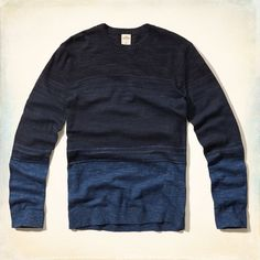 Guys Navy Gradient Sweater | Guys Tops | HollisterCo.com