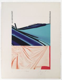 JAMES ROSENQUIST - 1, 2, 3 Outside -  1972 -  6 color lithograph with embossing and debossing -  40 1/2 x 31 in. -  Edition of 70 -  Pencil titled, signed, dated and numbered - Contact us at info@gsfineart.com or call us at 305-456-5478