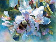 "Signs of Spring by Yvonne Hemingway Watercolor ~ 28.5"" x 26"""