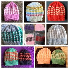Simple stylish knitting & crochet patterns from a popular independent designer. Baby Hat Patterns, Knitting Patterns Free, Knit Patterns, Free Knitting, Free Pattern, Baby Hats Knitting, Knitted Hats, Color Combinations, Ravelry