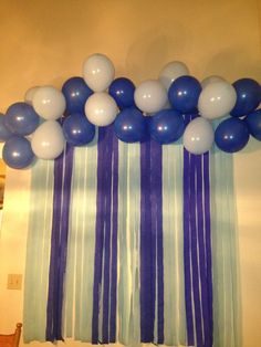 Did this for a baby boys shower...super cheap and looks good! baby shower ideas for boys