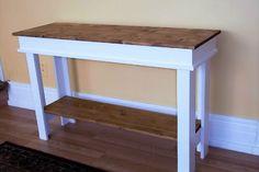 Farmhouse Console Table  Side Table  Entry Table  Foyer Table
