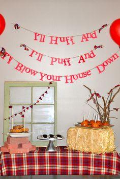 "Photo 1 of 15: Three Little Pigs / Birthday ""David's 2nd Birthday "" | Catch My Party"