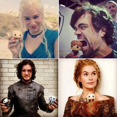 I just thought this was awesome. Game of Thrones actors with Pop Dolls.