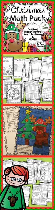 Pages and Pages of Christmas themed 4th grade math! Students will love the variety, fun and challenge and you will LOVE the easy prep!