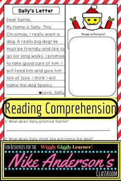 Reading Comprehension  Letters To Santa  Reading Comprehension
