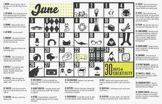 30 days of creativity @createstuff #make