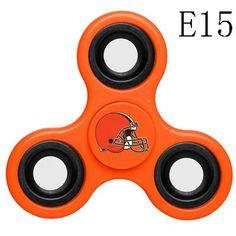 N007 Cleveland Browns (Black Grey Orange)Fidget Spinner