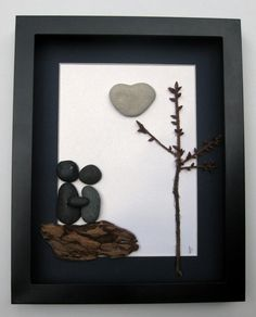 Unique Engagement Gift Personalized Couple's by SticksnStone, $70.00