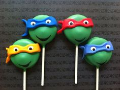 Teenage Mutant Ninja Turtle Inspired Oreo Pops by EmilysTreatShop, $60.00