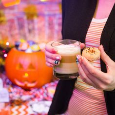 The perfect one-two punch of a latte and mini donut. #Halloween #dolcegusto #snacksonsnacks