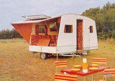 Retro Caravan, Caravan Ideas, Camping Style, Mobile Home, Recreational Vehicles, My House, Tent, Retro Vintage, Hiking