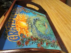Tray/ Grateful Dead Rolling Tray/ Beach Waves/ Skeleton Riding Waves/ Shot Glass Tray/ Fire Sun/ 13 point bolt/ Wood trays/ Storage Trays by EasyWindFamily on Etsy