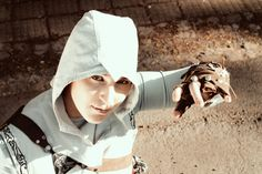 Me in Altair Cosplay from Assassin's Creed <---previous pinner Assassin's Creed, Addiction, Cosplay, Character, Lettering