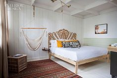 Interior Design Magazine: Ruschmeyer's in Montauk, New York. #InteriorDesignMagazine #InteriorDesign #design #bedroom #headboard #hotel
