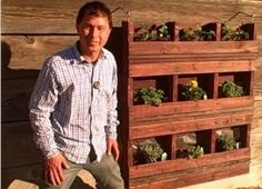 How to Build a Hanging Pallet Garden
