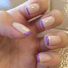 nude & purple nails  manicure
