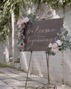 Dusty Rose Wedding, Wedding Flowers, Wedding Table, Rustic Wedding, Fall Wedding, Church Wedding Decorations, Diy Wedding Backdrop, Wedding Entrance, Wedding Welcome Board