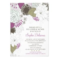 Discount DealsPurple Whimsical Floral Bridal Shower InvitationsIn our offer link above you will see