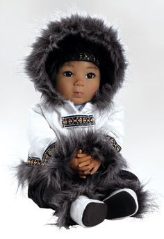 Realistic Eskimo Doll, Alaskan Baby Doll, Kodi, 20 inch GentleTouch Vinyl with Weighted Body
